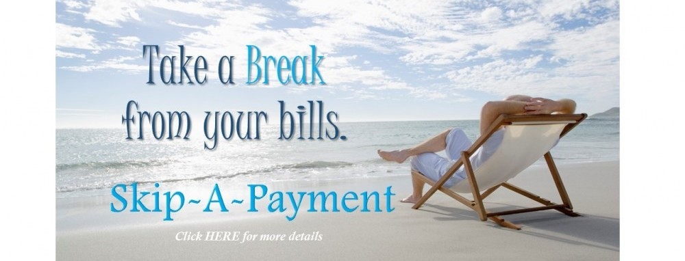 Take a Break from your bills