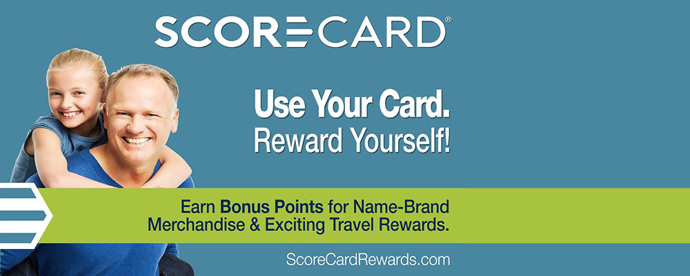 Scorecard - Use your card. Reward yourself! Earn points for name-brand merchandise and travel. ScoreCardRewards.com